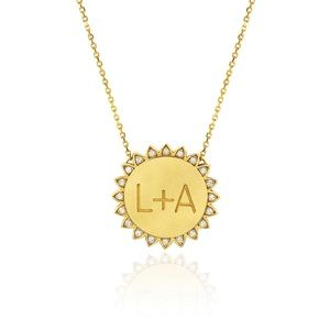 """Logan Hollowell """"You are My Sunshine"""" """"N"""" Necklace"""